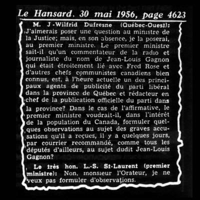 Le Hansard 30 mai 1956, page 4623