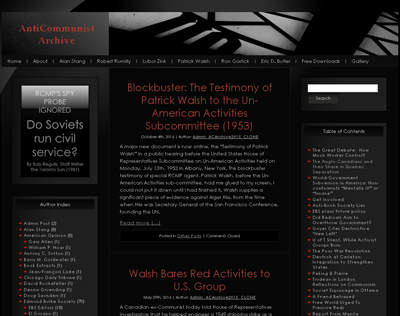 HTML site for AntiCommunist Archive