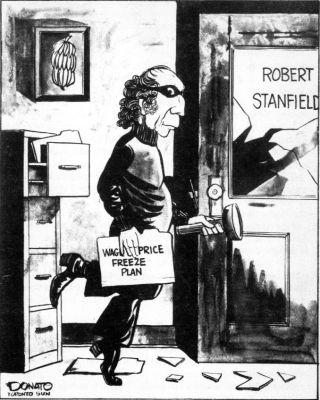 Pierre Elliott Trudeau Stealing Stanfield Conservative Wage-Price Freeze Plan